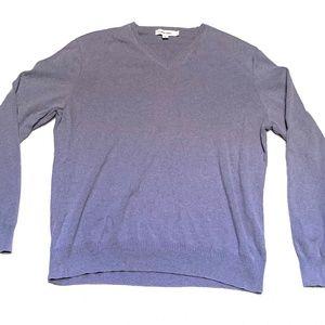 Calvin Klein Men's Purple Pullover V-Neck Sweater